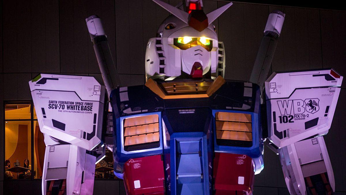 60-foot tall Gundam robot operational, can walk, gesture