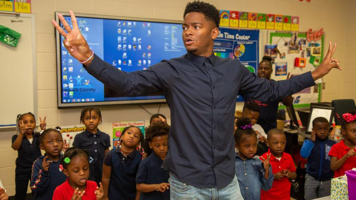 Georgia's Pre-K Teacher of the Year is the first black man to win the award