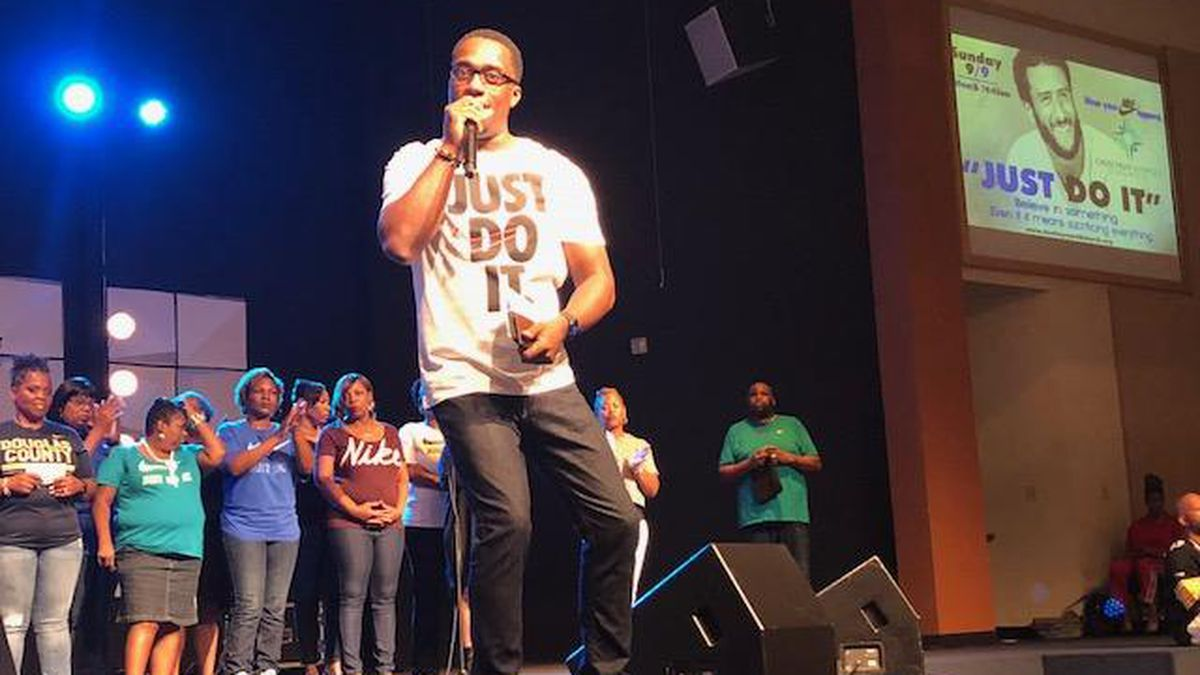 Investing in Nike and students: Austell pastor encourages young members to 'Just Do It'