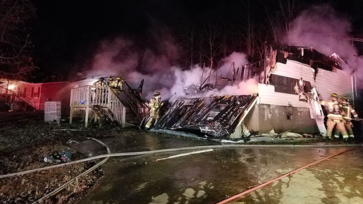 Nearly 40 animals killed in mobile home fire