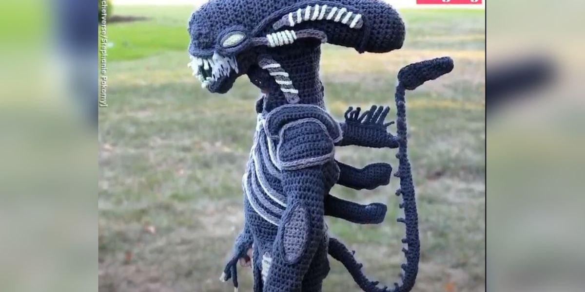 Check out the epic Halloween costumes this mom crochets for her kids