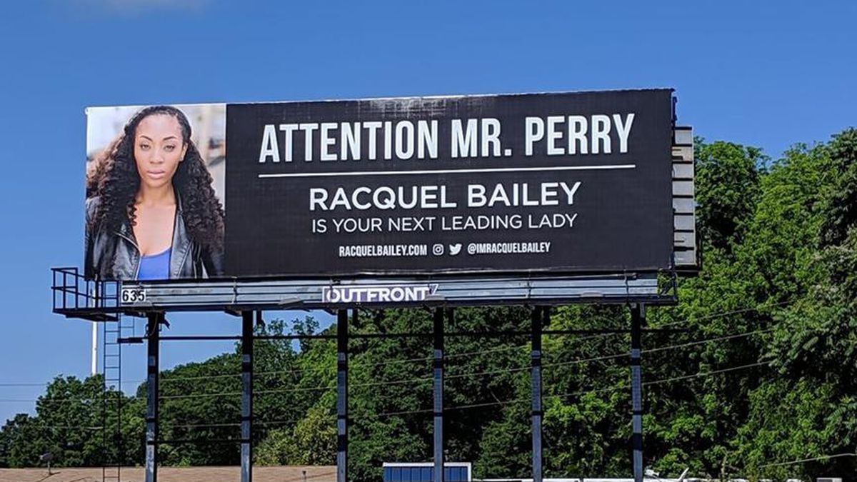 Actress buys massive billboards in Atlanta asking Tyler Perry for job
