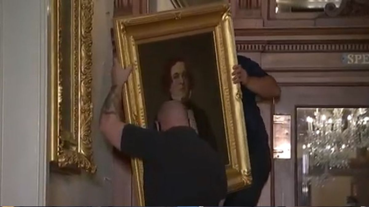 Pelosi pulls down paintings of Speakers who were Confederates