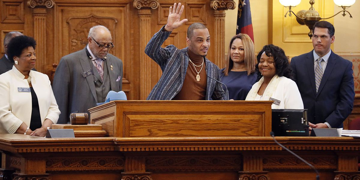 T.I. honored by Georgia Senate for positive impact on community