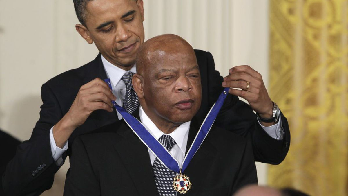Falcons to make late civil rights leader John Lewis a honorary captain for Seahawks game
