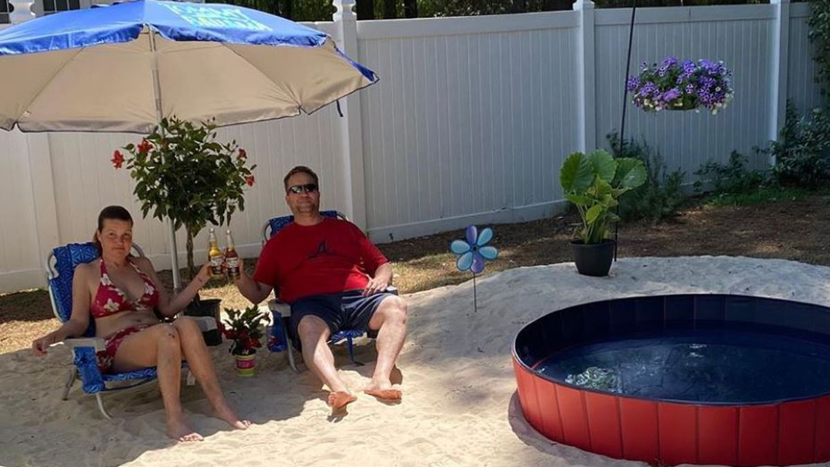 Life's a beach: Canceled spring break plans isn't stopping families from having fun