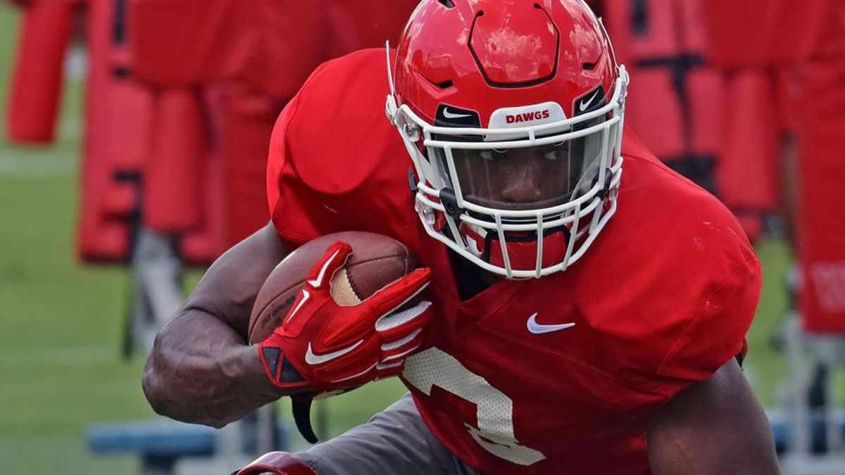 UGA freshman running back Zamir White injured in scrimmage