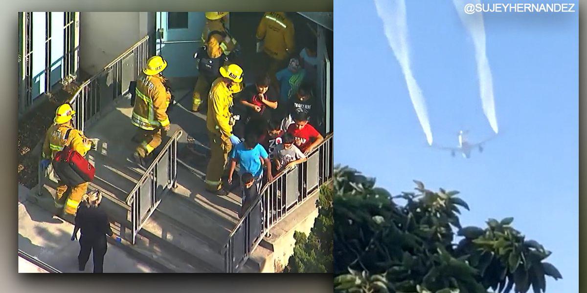 Delta flight dumps fuel over elementary schools in Los Angeles
