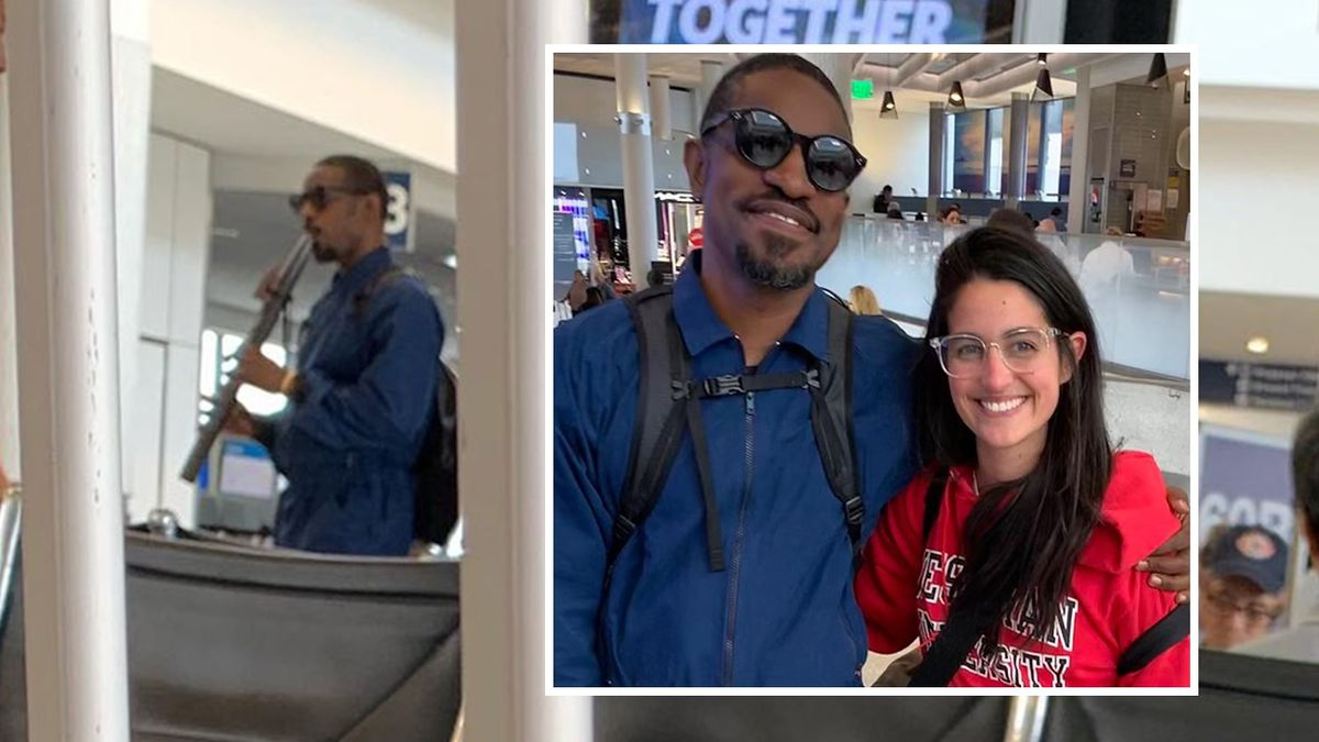 Passenger: I thought man playing flute in airport was André 3000 ... and then it WAS André 3000