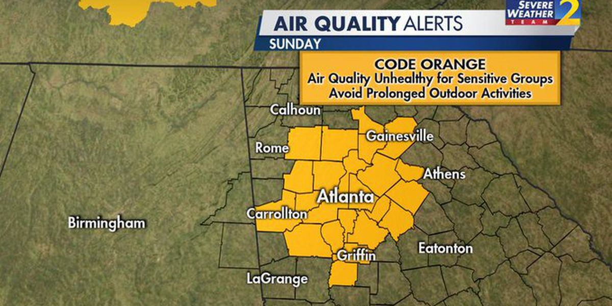 WARNING: Code Orange air quality alert issued again for metro Atlanta