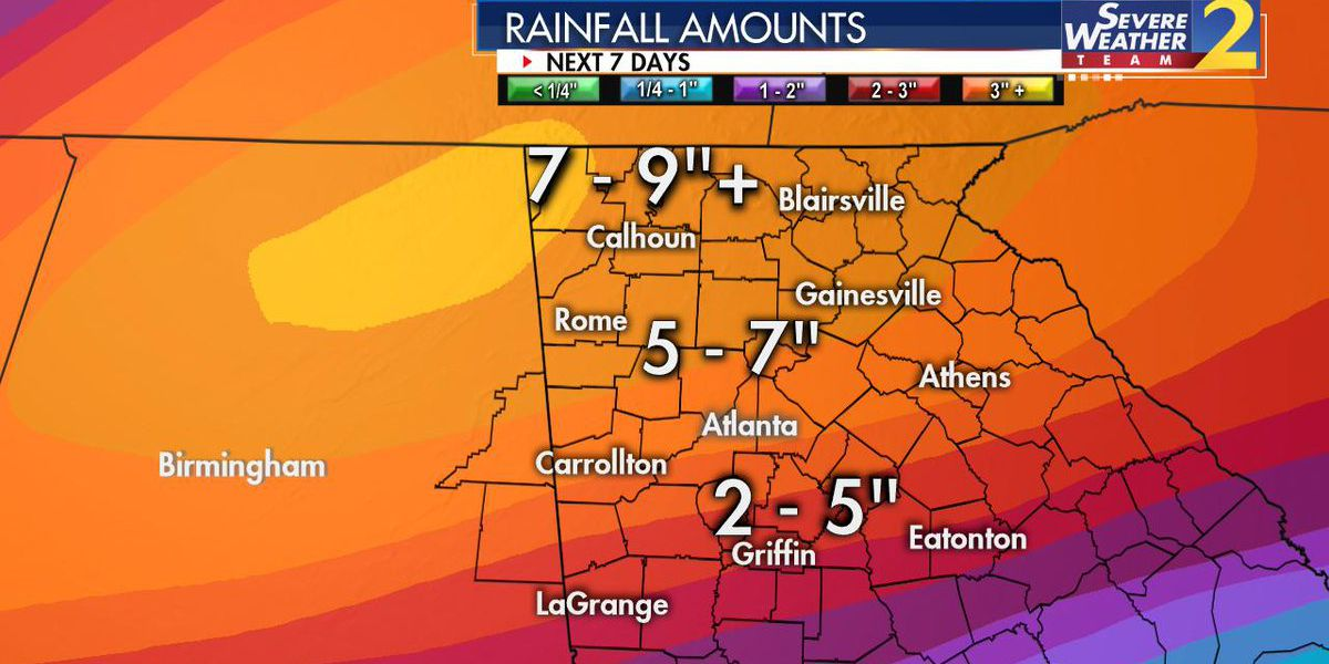 Rain, rain and more rain! You could see 1/2-foot of rain over the next week
