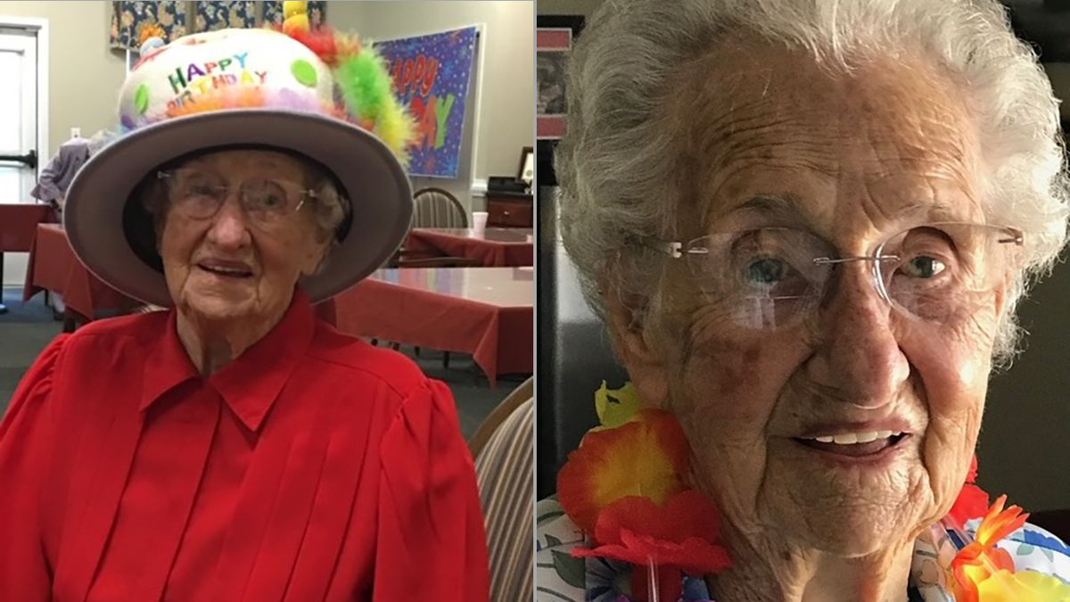 Covington woman celebrates 104th birthday with drive-by parade, call from favorite singer