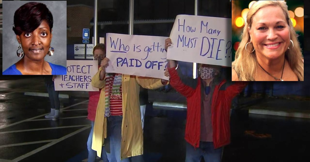100 educators hold protest after 2 Cobb County teachers die within hours of each other