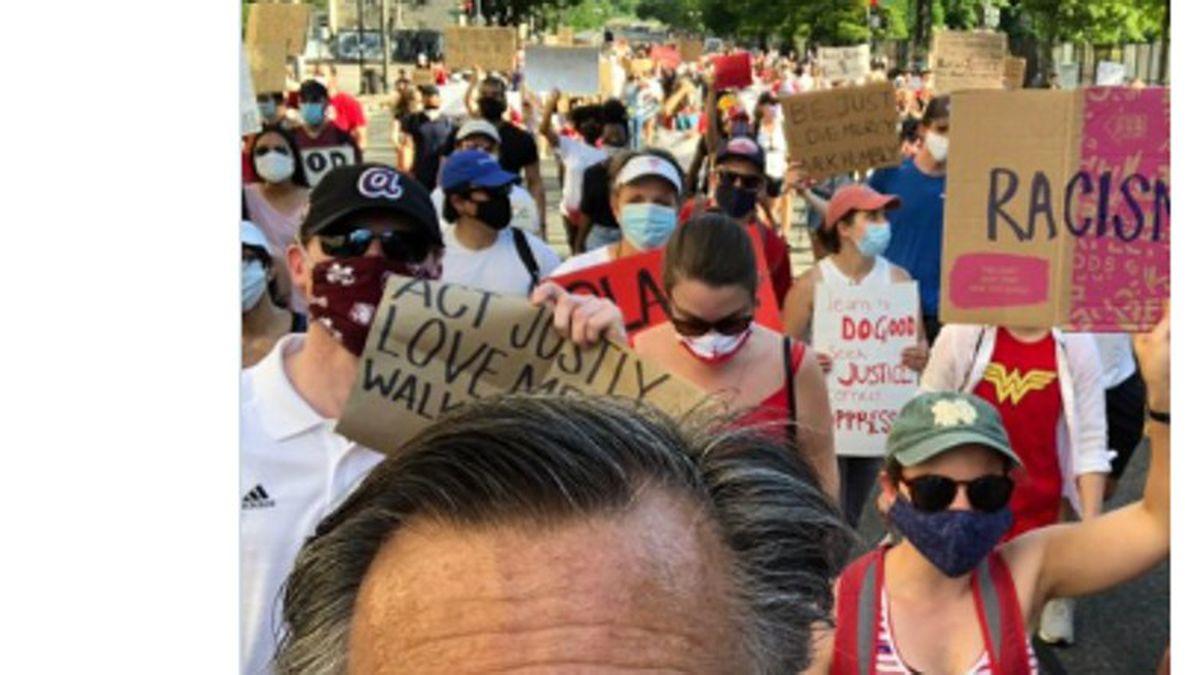 Romney joins DC marchers to argue 'Black Lives Matter'