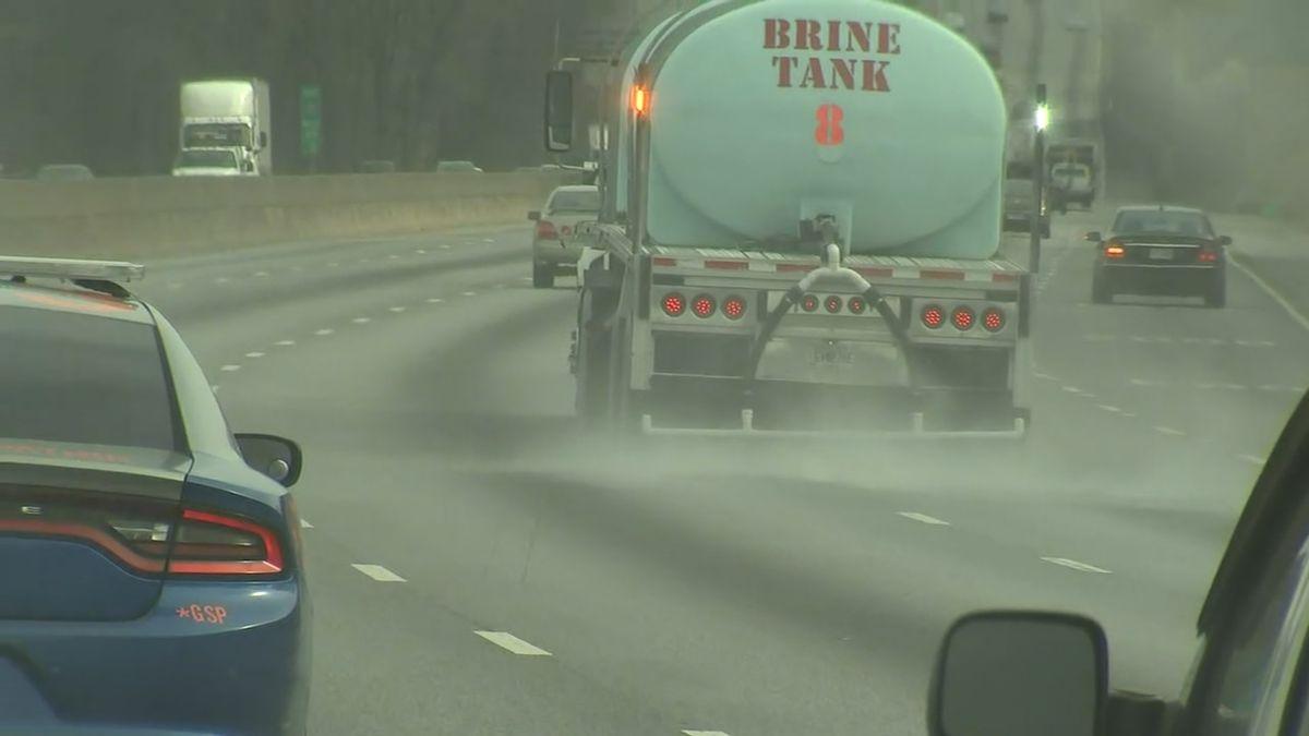 GDOT crews use brine trucks to treat roads ahead of snow