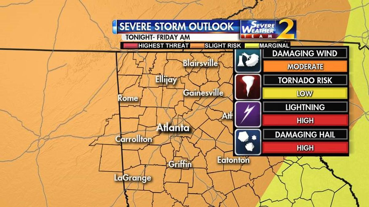 Showers, storms moving through overnight