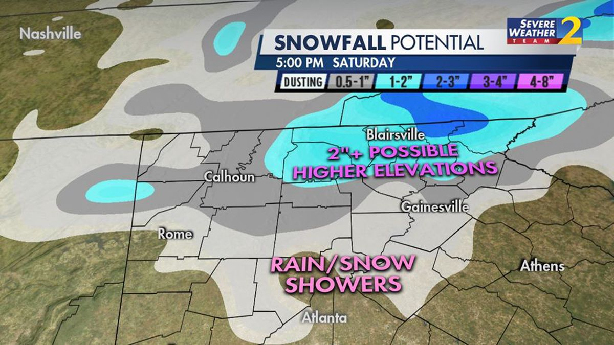 Winter Weather Advisory issued for parts of north GA ahead of anticipated snow