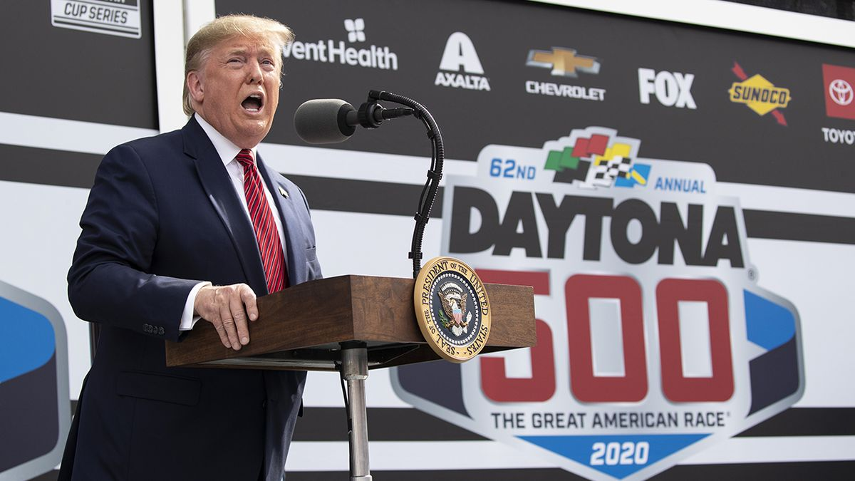 President Donald Trump becomes grand marshal at Daytona 500