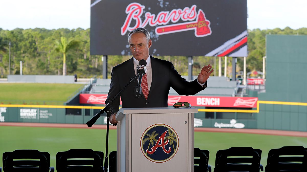 MLB commissioner says he hasn't had talks with Braves on tomahawk chop yet