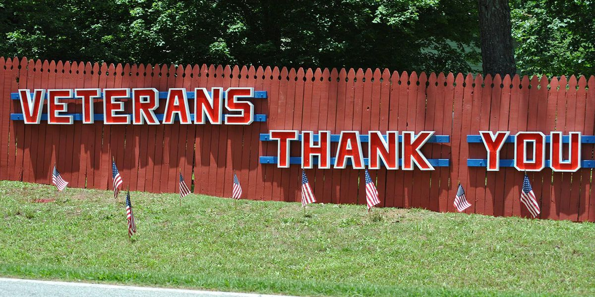 Ga. man builds sign facing highway to thank veterans