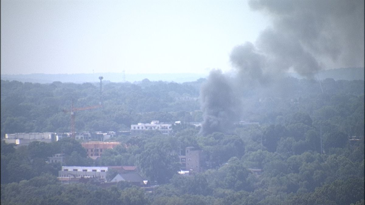 Shed catches fire at construction site in Old Fourth Ward
