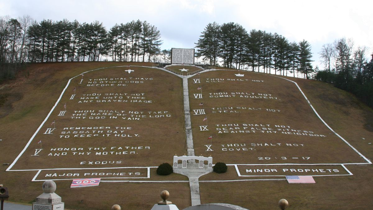 See the world's largest Ten Commandments
