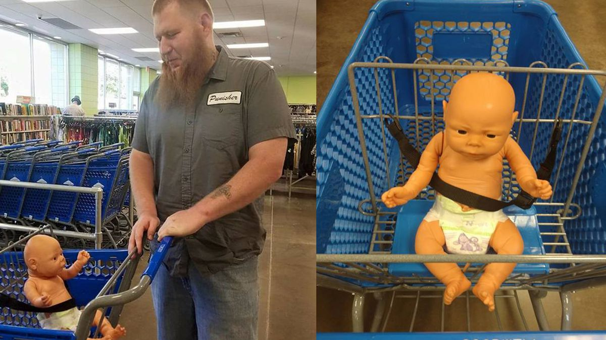 The way this man treats his daughter's doll is amazing