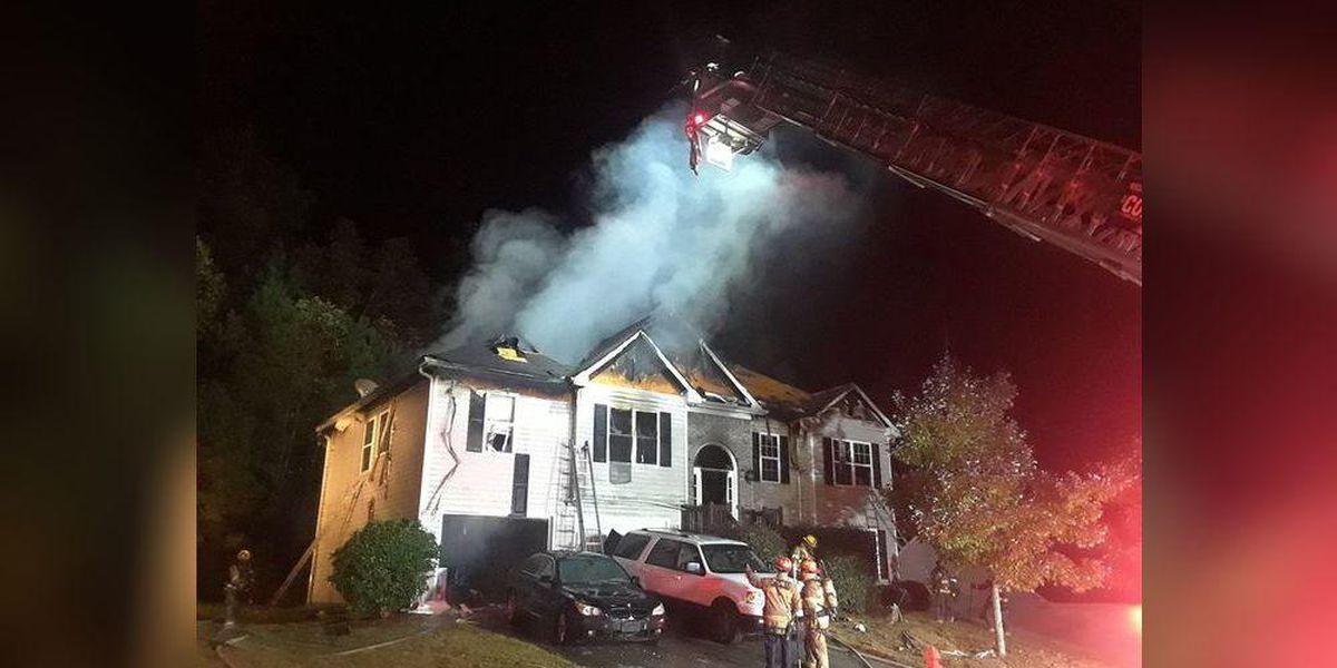 8 family members escape Gwinnett home destroyed in fire